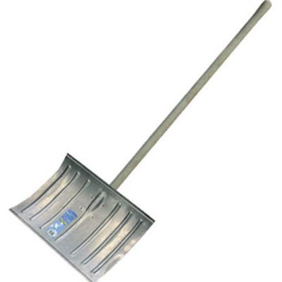 Лопата снеговая металлическая с черенком