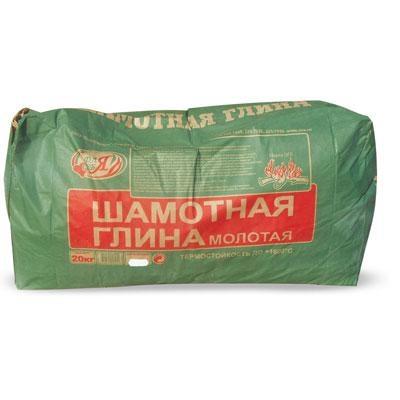 Шамотная глина, для кладочных работ, КБС, мешок 20 кг