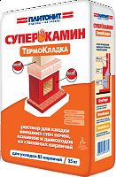Огнеупорный раствор ПЛИТОНИТ-СуперКамин ТермоКладка 20 кг.