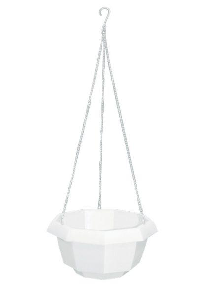 Кашпо подвесное, 200 х 140 мм, пластиковая корзина многогранная Palisad