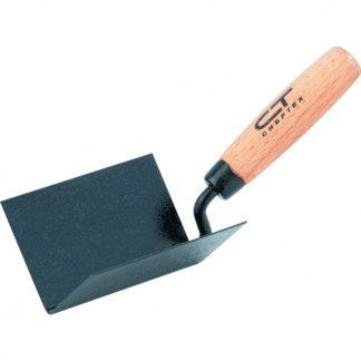 Кельма угловая, 110 х 75 х 75 мм, стальная, для внутренних углов, буковая ручка Сибртех
