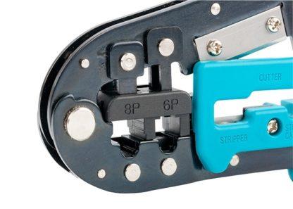 Клещи для обжима телефонных и компьютерных клемм RJ-45, 6P, 8P и RJ-11/12, 6P, 8P Gross