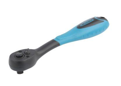 Ключ-трещотка 3/8, 72 зуба, Comfort, с быстрым сбросом, CrV, двухкомпонентная рукоятка Gross