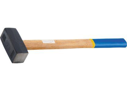 Кувалда, 3000 г, кованая головка, деревянная рукоятка Сибртех