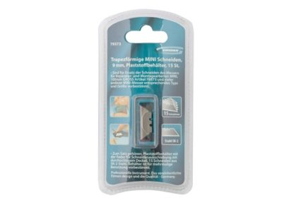 Лезвия МИНИ, 9 мм, трапециевидные, пластиковый пенал, 15 шт Gross