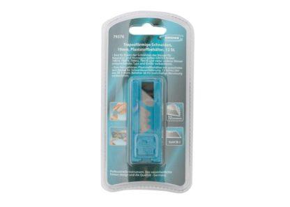 Лезвия, 19 мм, трапециевидные, пластиковый пенал, 12 шт Gross