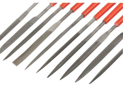 Набор надфилей, 180 х 5 мм, 10 шт, пластиковые рукоятки Matrix