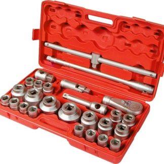 Набор торцевых головок, квадрат, 3/4-1, головки 21 х 65 мм, 26 предметов, пластиковый бокс Matrix