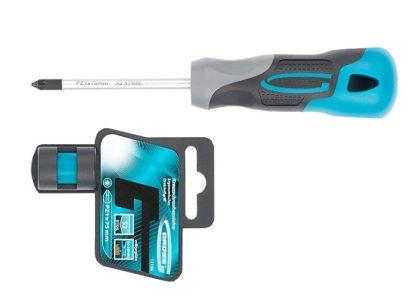 Отвертка PZ1 x 75 мм, S2, трехкомпонентная ручка Gross
