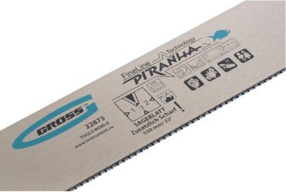 """Пильное полотно для прецизионного стусла """"Piranha"""", 550 мм, каленый зуб 3D, 18 TPI Gross"""