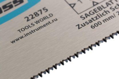 """Пильное полотно для прецизионного стусла """"Piranha"""", 600 мм, каленый зуб 3D, 18 TPI Gross"""