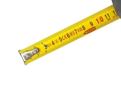 """Рулетка """"Schlagfest"""", 5 м x 19 мм, магнитный обрезиненный зацеп, двусторонняя шкала, Нейлоновое покрытие, автоматическая фиксация Gross"""