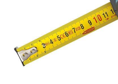 """Рулетка """"Schlagfest"""", 8 м x 25 мм, магнитный обрезиненный зацеп, двусторонняя шкала, Нейлоновое покрытие, автоматическая фиксация Gross"""