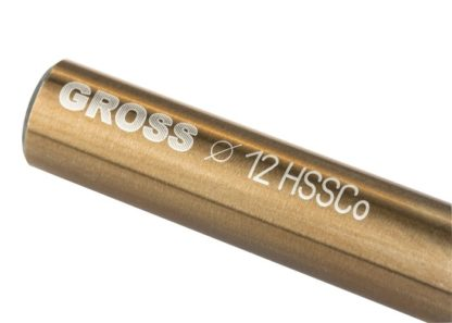Сверло спиральное по металлу, 12 мм, HSS-Co Gross