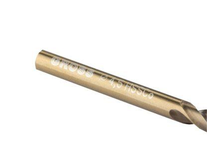 Сверло спиральное по металлу, 4,5 мм, HSS-Co Gross