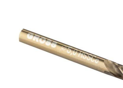 Сверло спиральное по металлу, 5 мм, HSS-Co Gross