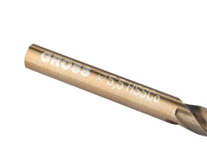 Сверло спиральное по металлу, 5,5 мм, HSS-Co Gross