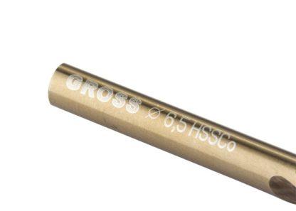 Сверло спиральное по металлу, 6,5 мм, HSS-Co Gross