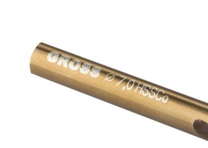 Сверло спиральное по металлу, 7 мм, HSS-Co Gross