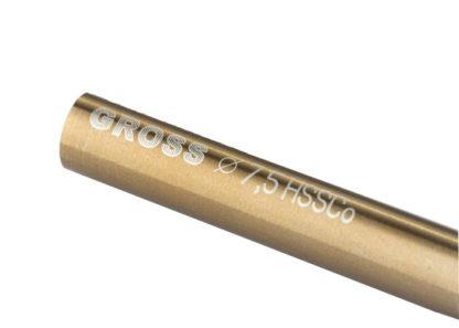 Сверло спиральное по металлу, 7,5 мм, HSS-Co Gross