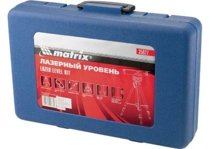 Уровень лазерный, 400 мм, 850 мм штатив, 3 глазка, (база, 2 линзы, очки) пластиковый бокс Matrix