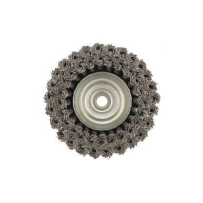"""Щетка для УШМ, 125 мм, М14, """"чашка"""", двухрядная, крученая проволока 0,5 мм Matrix"""