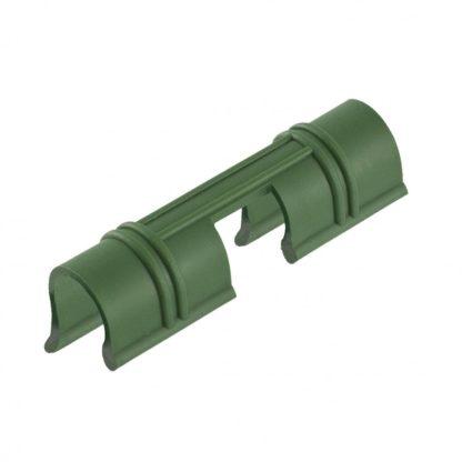 Универсальные зажимы для крепления к каркасу парника D 12 мм, 20 шт в упаковке, зеленые Palisad