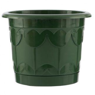 Горшок Тюльпан с поддоном, зеленый, 3,9 л Palisad