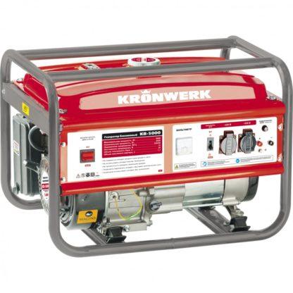 Генератор бензиновый Kronwerk KB 5000, 5.0 кВт, 220 В/50 Гц, 25 л, ручной старт