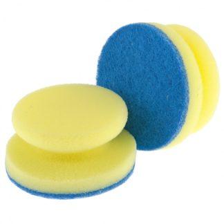 Губки для посуды c тефлоновым покрытием, круглые, D 95 х 50 мм, 2 шт, в картоне, Россия Elfe