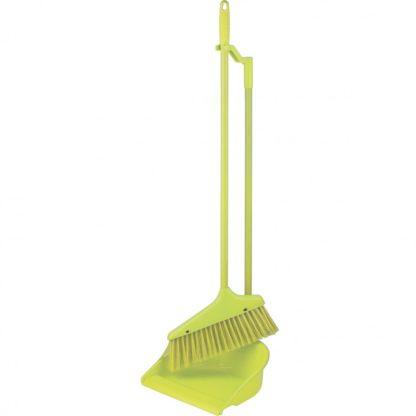 """Набор для уборки зеленый """" Ленивка"""", совок, щетка Elfe"""