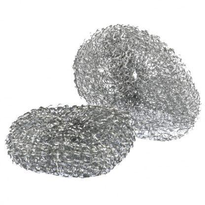 Скраб для посуды, 2 шт, металлический, Россия Elfe