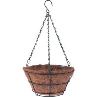 Кашпо подвесное с вкладышем из коковиты, конус D 30 см Palisad