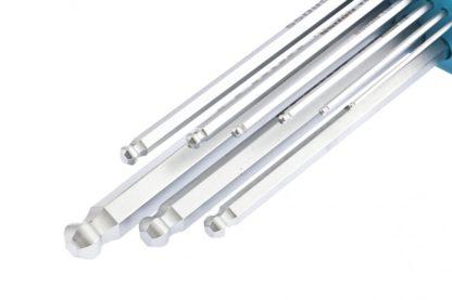 Набор ключей имбусовых HEX, 1,5-10 мм, S2, 9 шт, экстра-длинные с шаром, сатинированные Gross