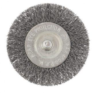 Щетка для дрели, 75 мм, плоская со шпилькой, витая проволока Сибртех