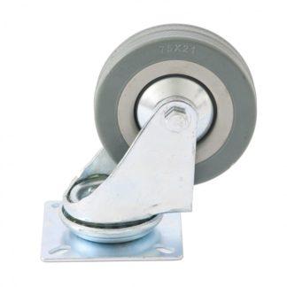 Колесо поворотное D 100 мм, крепление платформенное Сибртех