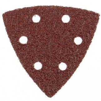 """Треугольник абразивный на ворсовой подложке под """"липучку"""", перфорированный, P 150, 93 мм, 5 шт Matrix"""