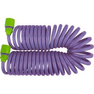 Шланг спиральный, 7,5 м х 10 мм, пластмассовая фурнитура, адаптер 1/2-3/4, разбрызгиватель Palisad