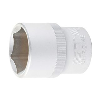 Головка торцевая, 16 мм, шестигранная, CrV, под квадрат 1/2 Stels