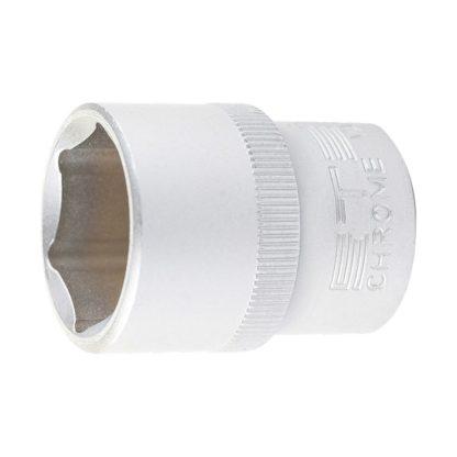 Головка торцевая, 22 мм, шестигранная, CrV, под квадрат 1/2 Stels