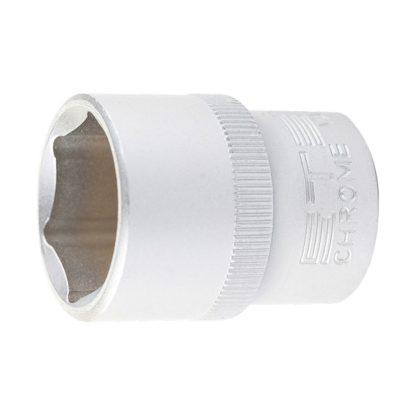 Головка торцевая, 23 мм, шестигранная, CrV, под квадрат 1/2 Stels