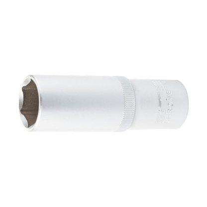Головка торцевая удлиненная, 19 мм, шестигранная, CrV, под квадрат 1/2 Stels