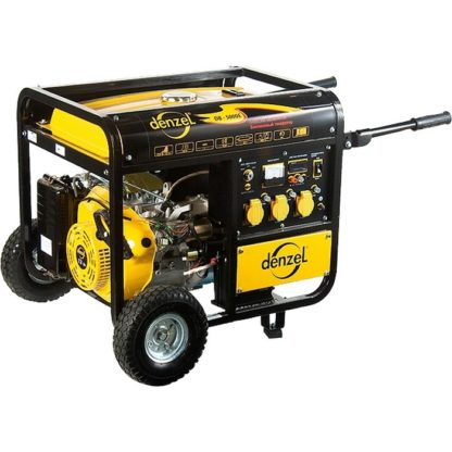 Генератор бензиновый Denzel DB5000Е, 4,5 кВт, 220 В/50Гц, 25 л, электростартер
