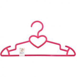 Вешалка пластиковая для верхней одежды 41 см, цветная, сердечко Elfe