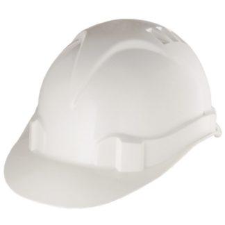 Каска защитная из ударопрочной пластмассы, белая Россия Сибртех
