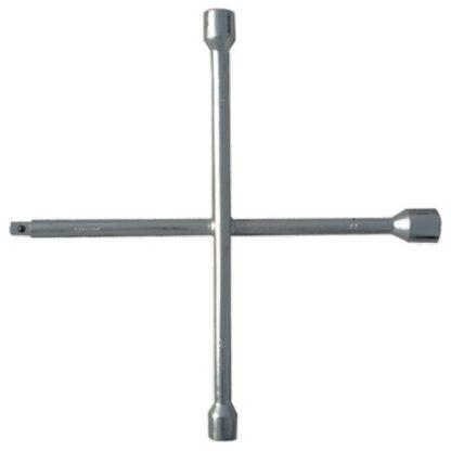 Ключ-крест баллонный, 17 х 19 х 21 мм, под квадрат 1/2, толщина 14 мм Сибртех