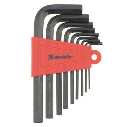 Набор ключей имбусовых HEX, 1,5-10 мм, CrV, 9 шт Matrix