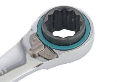 Набор ключей накидных с трещоткой, 8-19 мм, 2 шт, многоразмерные, реверсивные, CrV Gross