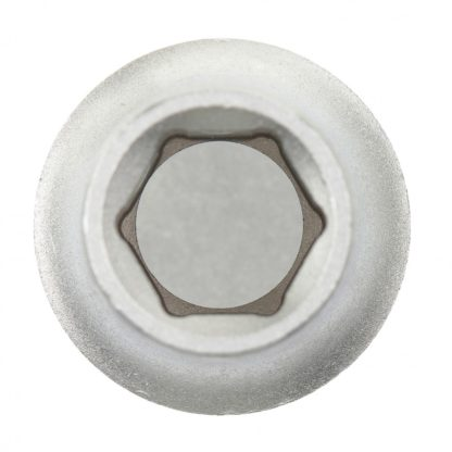 Головка торцевая, 10 мм, шестигранная, CrV, под квадрат 1/2, хромированная Matrix Master