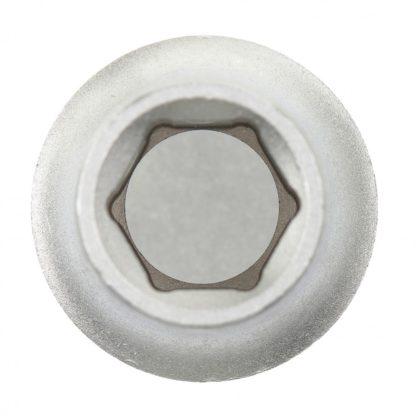 Головка торцевая, 12 мм, шестигранная, CrV, под квадрат 1/2, хромированная Matrix Master
